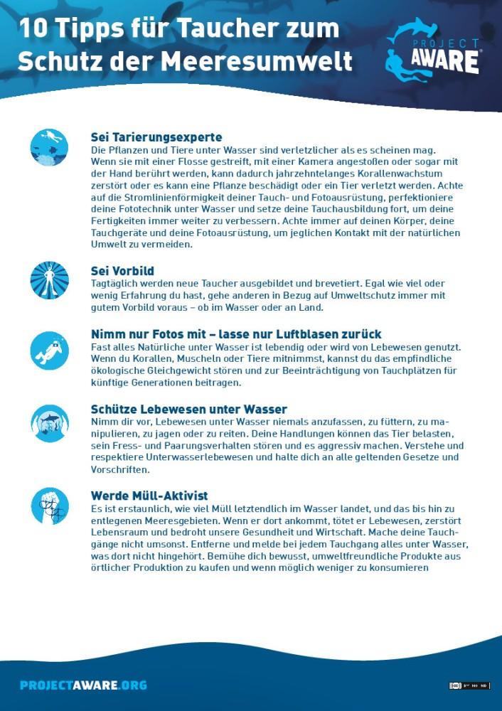 10 Tipps für Taucher zum Schutz der Meeresumwelt